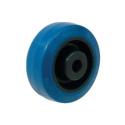 Gummihjul Blå med nylon kerne
