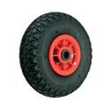 Luftgummi hjul med rød PP nav