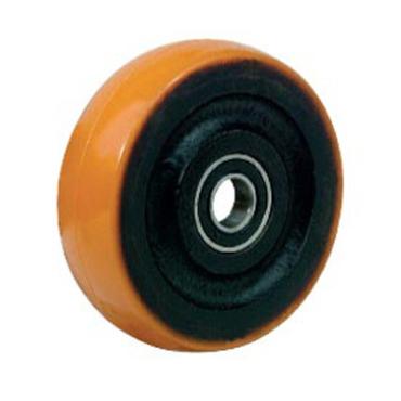 Polyurethan hjul med sort støbejerns nav