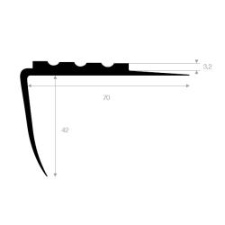Trappeprofil 70mm sort