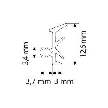 Primo 6168 Glasbånd Grå - 5m Rulle
