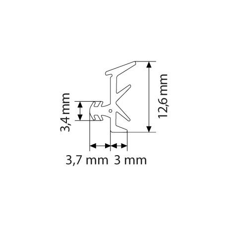 Primo 6168 Glasbånd Sort - 5m Rulle