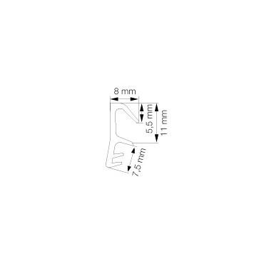 Primo 4040 Svejseliste Grå - 5m Rulle