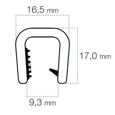 Kantliste Hvid 8-9mm PVC
