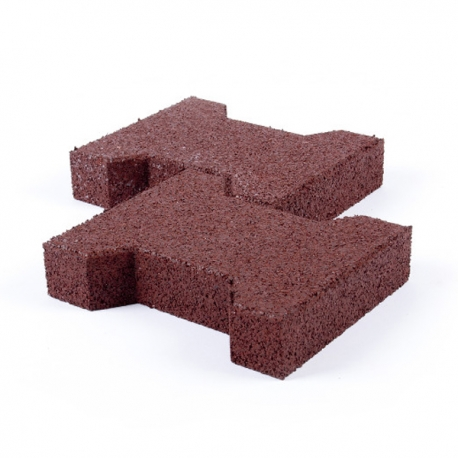 Gummifliser Keystone Rød