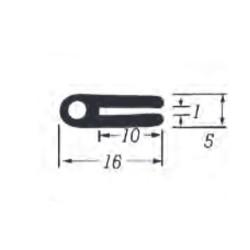 U-Profil 1mm Gummi