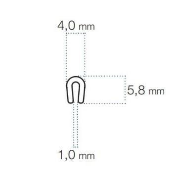 U-Profil 1mm PVC