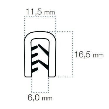Kantlister Grå 3-5mm PVC