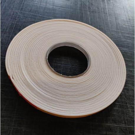 Komprimerings tætningsliste 3x10mm Hvid