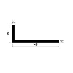 L-Profil 40x15x2 Sort
