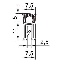Kantliste 1-2mm m. toptæt.