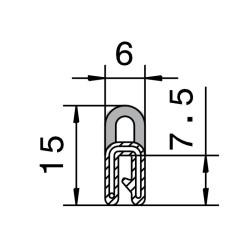 Kantliste 0,5-1,5mm m. toptæt.