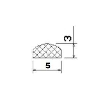12x6mm Halvrund