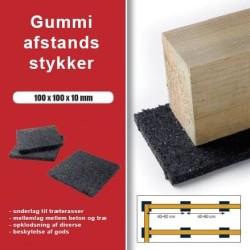 Afstandsstykker Granulat 100x100x10mm