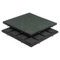 Gummifliser Grøn 30mm 500x500mm