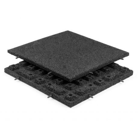 Gummifliser Sort 40mm 500x500mm
