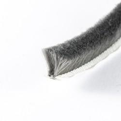 Flexibel Børsteliste 10mm - GRÅ