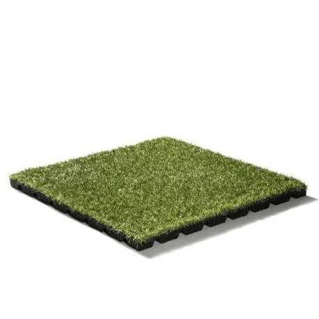 Gummiflise med kunstgræs 25mm
