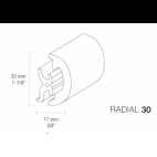 Fenderliste RADIAL 30mm Grå