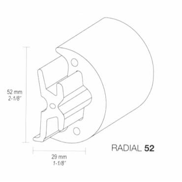 Fenderliste RADIAL 52mm Hvid