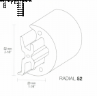 Fenderliste RADIAL 52mm Grå