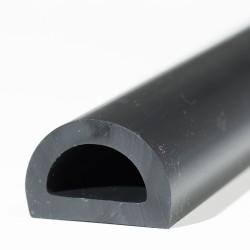 D-Fenderliste PVC Sort
