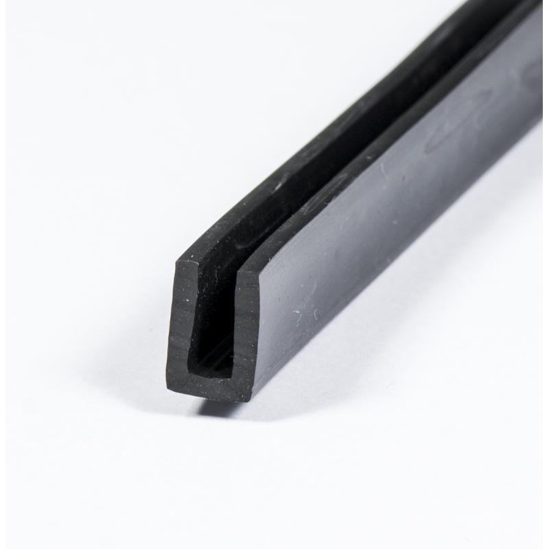 u profil 3mm gummi epdm beskyt dine kanter med en uprofil. Black Bedroom Furniture Sets. Home Design Ideas