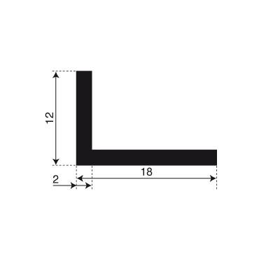 L-Profil 12x18x2 Sort
