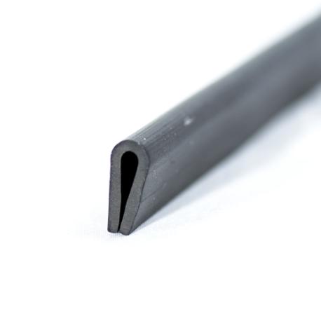 U-Profil 3mm afrundet Gummi