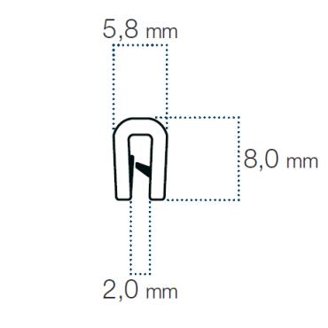 Kantliste 1-2mm Sort PVC