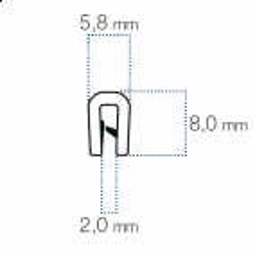 Kantliste Grå 1-2mm PVC