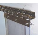 200mm Beslag til bændelgardin