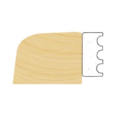 Glasbånd 2x8mm Hvid