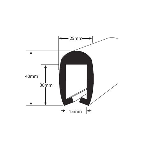 PVC255 Fenderliste Sort