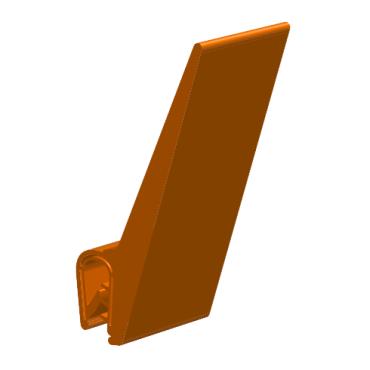 Kantliste 2-4mm m. topflap.