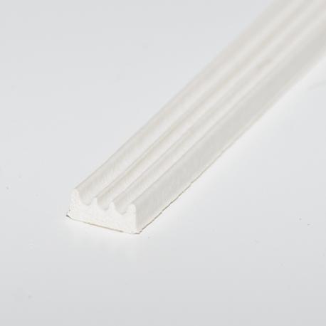 Glasbånd 3x9mm Hvid
