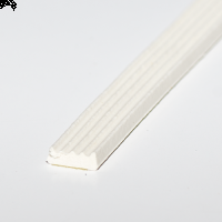 Glasbånd 4x9mm Hvid