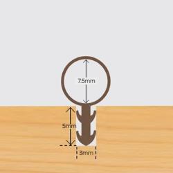 Tubex 7.5mm karmprofil Brun