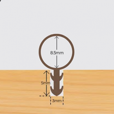 Tubex 8.5mm karmprofil Hvid