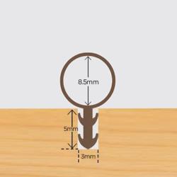 Tubex 8.5mm karmprofil Brun