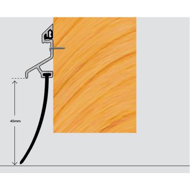 Dørliste med skinne - 1220mm