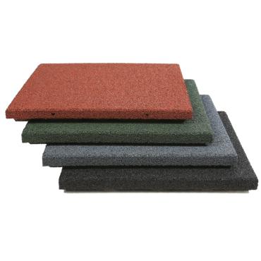 Gummifliser Rød 50mm 500x500mm