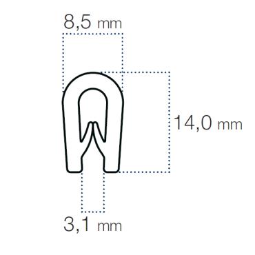 Kantliste Sprt 2,5-3mm PVC