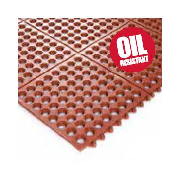 Oliebestandig Ergonomisk Modul måtte 90x90cm Rød